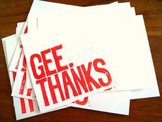 handmade thank you cards - but this could work for so many other things you want to print~