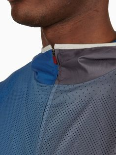 Nike Gyakusou Men's Blue Grey AS UC Convertible Sweat Map Jacket | oki-ni