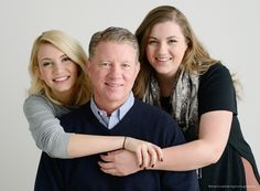 Family photos with teenage daughters and their dad. Indoor studio photography with teens. Lino Lakes family photographer