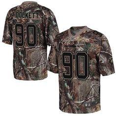 Elite Darnell Dockett Mens Jersey - Arizona Cardinals 90 Realtree Camo Nike NFL