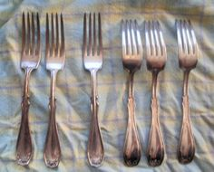 6 Art Deco Cake Forks no box from Germany by PlanetNathalie2, €9.90