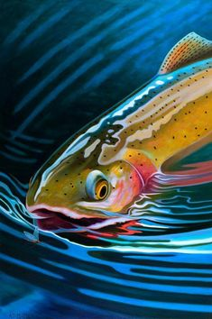Original fly fishing art and prints by artist AD Maddox. Browse the gallery to see her latest fly fishing art. Trout Fishing, Fishing Lures, Fly Fishing, Fishing Knots, Fishing Reels, Fishing Tackle, Alaska Fishing, Saltwater Fishing, Bikini Fishing