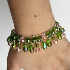 Spring Charm DIY Bracelet LIKE THESE COLORS but would rather hang them all from a chain