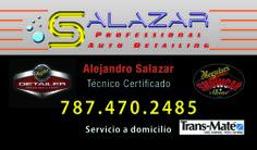 Diseño básico Salazar Professional Auto Detailing, Caguas, Puerto Rico.
