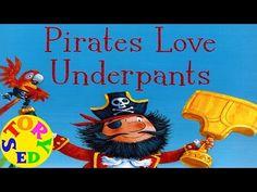 Pirates Love Underpants - YouTube Storyline Online, Book Week, Book Activities, Mermaids, Pirates, Preschool, Finding Yourself, Drama, Oceans