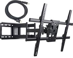 VideoSecu Articulating Full Motion TV Wall Mount for LED LCD Plasma TVs up to 165 lbs with VESA up to mm, Dual Arm pulls out up to 25 Inch, with Leveling Adjustments, Bonus 10 ft HDMI Cable VideoSecu