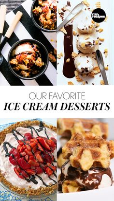 Our Favorite Ice Cream Desserts | MyRecipes.com   From sundaes, to pies, and everything else, here are our favorite ice cream desserts.