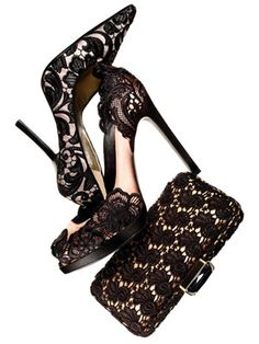43c9ca592a32 Lacy Accessories - Lace Shoes and Bags Black Lace Shoes