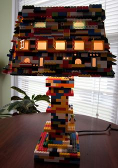 Lego Lamp- would look so cool in one of the boys rooms. Woud definitely have to glue it or I know it would be taken apart in no time!