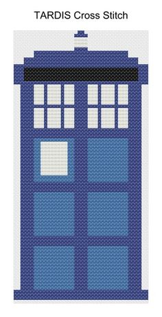 Pinned more than 1000 times! Dr. Who fans will love this. TARDIS Cross Stitch Pattern - Albion Gould