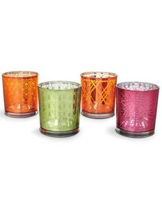 Colored votives from C Wonder