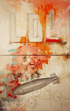 sorry this is so late 1-3-17. Saatchi Art Artist Chad Beroth creates a political piece to invoke humor to his audience. He ironically puts a bomb in a painting that is full of light colors and smiles. The theme the artist uses is 'political humor' which he paints on Canvas. I like how random the art is and how it's left for interpretation to the viewer. I might so a similar project with the faces of my mom and sister and put words that describe them.