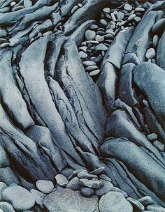 Eliot Porter: Wave Worn Rock, Hellnar, Snaefellsnes, Iceland, 1972.  Patterns/texture in nature