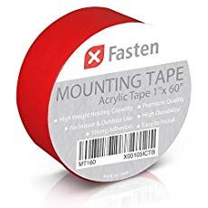Xfasten Double Sided Tape Acrylic Mounting Tape Removable 1 Inch X 60 Inch Mounting Tape Double Sided Mounting Tape Tape
