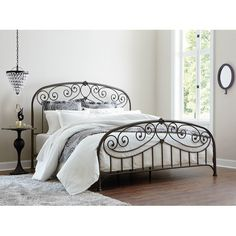 Iron bed lovely for farmhouse style; though not good feng shui and metals may conduct EMF