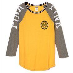 Medium PINK Baseball Tee Nwt in online package PINK Victoria's Secret Tops Tees - Long Sleeve