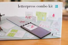 Letterpress | L Letterpress from Lifestyle Crafts  The Starter Kit does not have the Epic 6 die cutting machine, but the Letterpress stuff will fit through a Cuttlebug or Big Shot