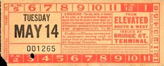 Front of elevated to bus/streetcar transfer from Philadelphia (Pennsylvania) Transportation Company (altered version of Philadelphia Rapid Transit Company transfer) (date unknown)
