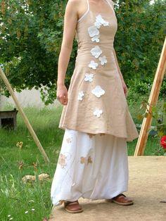 Les Fées Tisseuses :: Sarouel + robe en Lin pour mariage
