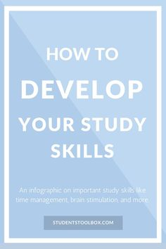 [Save this Infographic!] Find out how to develop your study skills in high school and college | Students Toolbox
