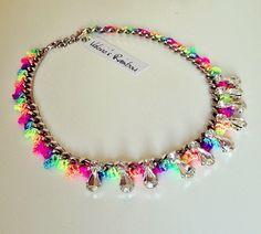 Rainbow Necklace, Venessa Arizaga Inspired, Crystal, Glass Rhinestones, Statement, Necklace by Valeriesrainbow on Etsy https://www.etsy.com/listing/161244202/rainbow-necklace-venessa-arizaga