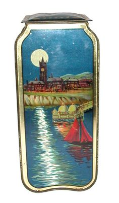 Huntley and Palmers  'Holiday Haunts'  biscuit tin 1926