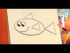 draw fish drawing shapes simple using basic teach cartoon easy kindergarten lessons guided drawings stick figure preschool youtu teacher kid