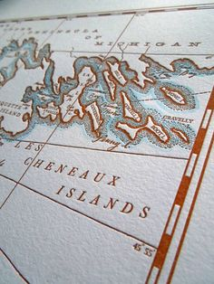 Les Cheneaux Islands Straits of Mackinac by quaillanepress on Etsy, $58.00