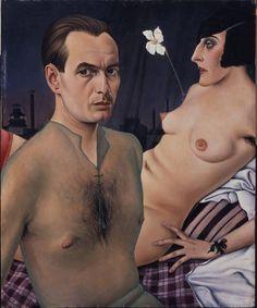 Christian Schad, Self-Portrait, 1927, oil on wood (via Tate)