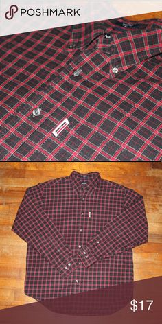 Nautica Plaid Flannel Button-up Great condition 9/10 Nautica Shirts Casual Button Down Shirts