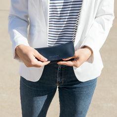 in marine blue Marine Blue, Season Colors, Wallets For Women, Sunglasses Case, Pouch, Tops, Fashion, Accessories, Moda