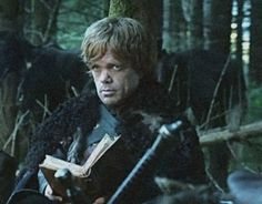 Tyrion with a book
