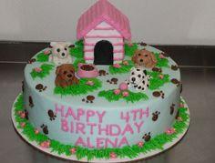 Puppy Birthday Cakes, New Birthday Cake, Puppy Birthday Parties, Themed Birthday Cakes, Themed Cakes, Dog Birthday, Puppy Party, Birthday Ideas, Little Girl Birthday Cakes