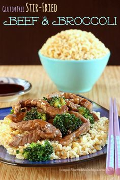 Gluten Free Stir Fried Beef and Broccoli - get dinner on the table in less than 30 minutes with #McCormickFlavor #GlutenFree Recipe Mixes | cupcakesandkalechips.com | #AD