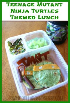 Teenage Mutant Ninja Turtles Themed Lunch. #TMNT