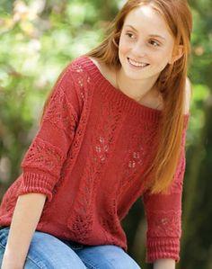 Redbud jumper from Classic Elite yarns on the LoveKnitting blog