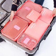 LAAT 6Pcs Sac de Rangement Valise Organiseurs de Bagage Organisateurs de Voyage Imperm/éables pour Les V/êtements Chaussures et Cosm/étiques
