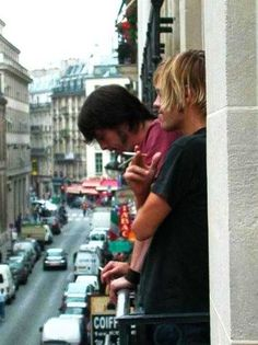 dave and taylor look down on the city