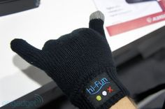 Hi-Funs gloves are Bluetooth headsets -- or, well, handsets -- with the speaker built into the thumb and the mic in the pinky, so you can talk by doing the traditional call me hand gesture. gadgets-and-gizmos
