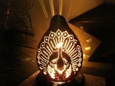 Moroccan Peacock Gourd Lamp by TheGoldenGourd on Etsy