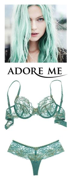 Sea green unlined demi bra from Adore Me Lingerie. Get your first bra + panty set for $24.95!