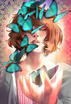 http://weheartit.com/entry/211130347 | Max and the blue butterflies