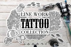 Ocean collection for tattoo design by Ekaterina Glazkova on @creativemarket