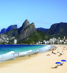 An Ipanema beach day in  Brazil.