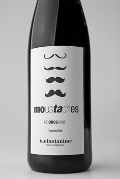 Packaging of the World: Creative Package Design Archive and Gallery: Moustache Mo Bros Wine Movember Taninotanino
