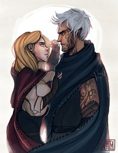 Aelin and Rowan (from fantastic projectnelm.tumblr.com)