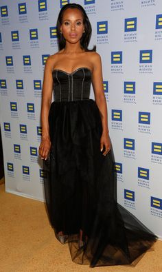 b9bf1908a4154 Kerry Washington wore Jason Wu to the 2013 Human Rights Campaign Gala in  Los Angeles. Kerry WashingtonStrapless GownDress ...