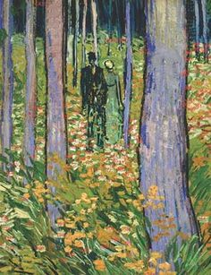 Vincent van Gogh (Dutch, 1853-1890), Undergrowth with Two Figures *detail), Cincinnati Art Museum, Bequest of Mary E. Johnston, 1967.1430.