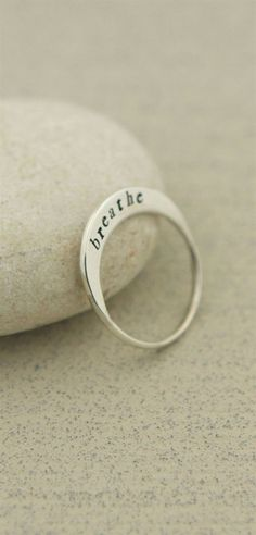 Sterling Silver Breathe Ring  #SilverJewelry