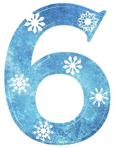 Free Frozen Font - Frozen Snowflake clipart numbers.